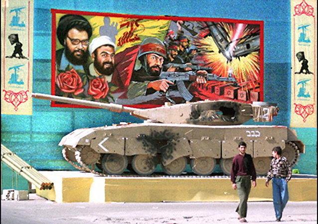 دبابة ميركافا غنمها حزب الله خلال حرب تموز