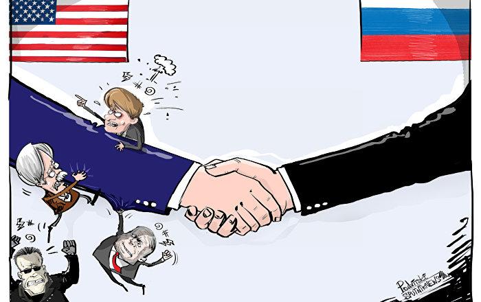 كاريكاتير - قمة هلسنكي