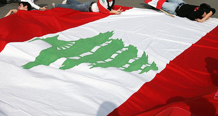 شجرة لبنان تزين العلم اللبناني