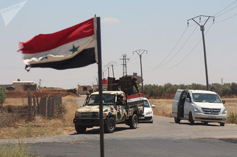 خروج المسلحين من بلدة محجة شمالي محافظة درعا