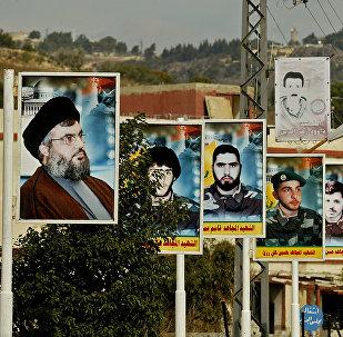 صور لشهداء حزب الله في بنت جبيل اللبنانية