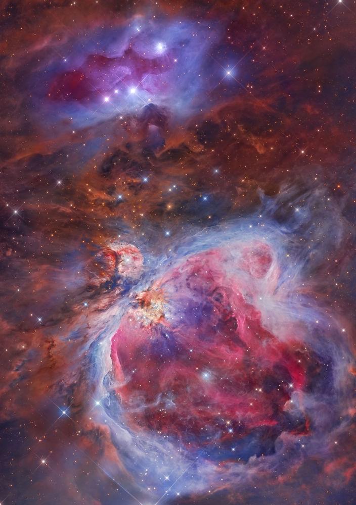 صورة بعنوان Mosaic of the Great Orion & Running Man Nebula، للمصور ميغيل أنخيل غارسيا بوريللا