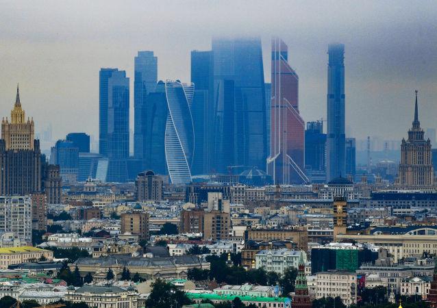 مشهد يطل على مدينة موسكو - المجمع التجاري موسكو سيتي