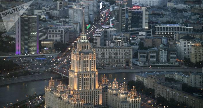 مشهد يطل على مدينة موسكو - المجمع التجاري موسكو - سيتي، برج فيديراتسيا فوستوك