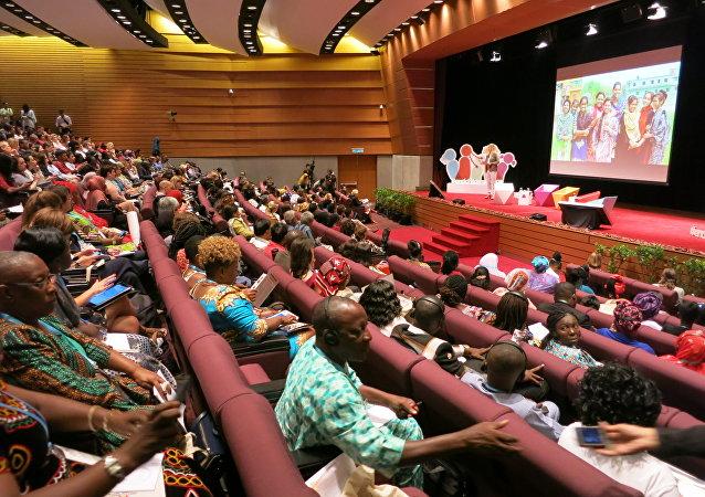 مؤتمر عن مرض الإيدز في أمستردام في هولندا بإدارة منظمة يونيسيف، 25 يوليو/تموز 2018