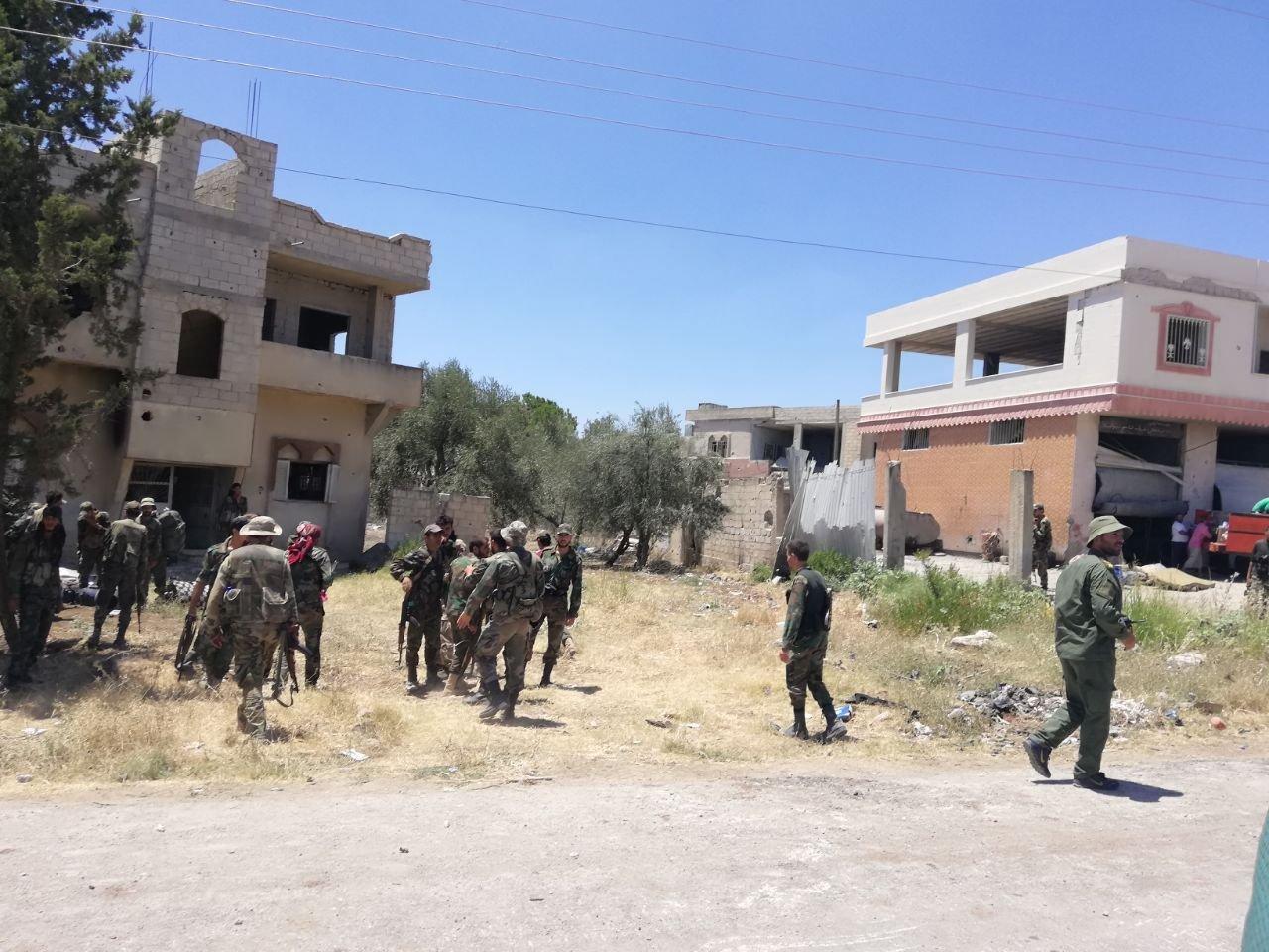 الجيش السوري يتقدم في حوض اليرموك