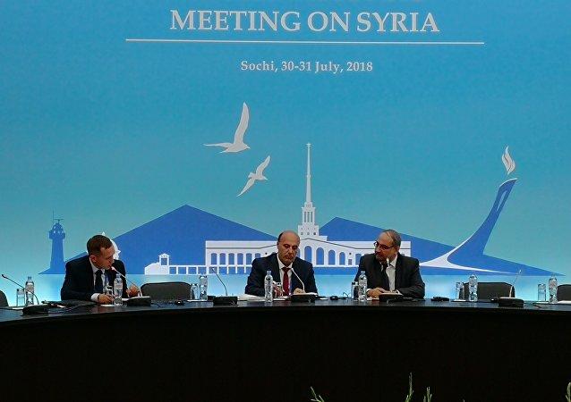 المتحدث باسم وفد المعارضة السورية في سوتشي أيمن العاسمي