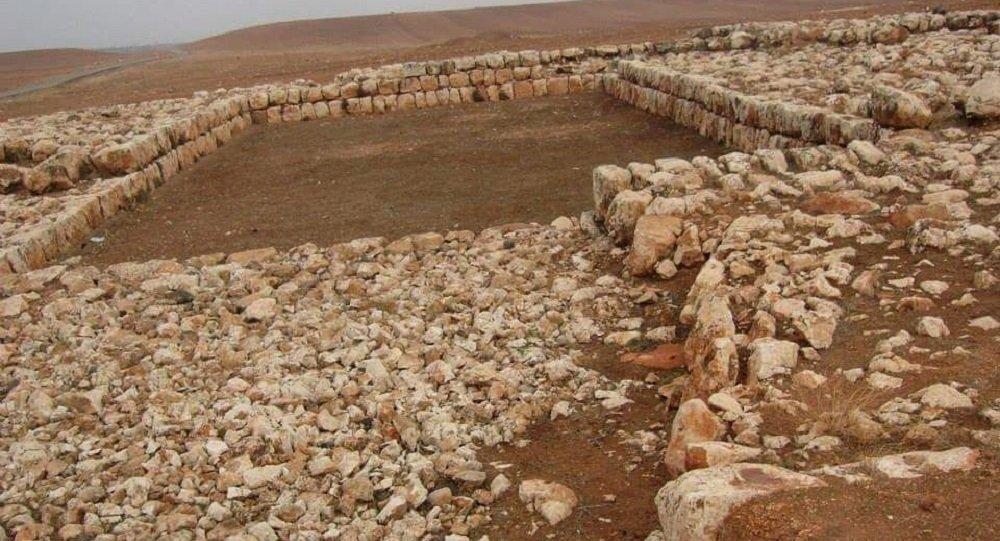 منظر عام لباحة الأسود في إيبلا تل مراديخ- ريف إدلب