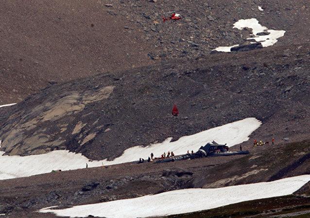 تحطم طائرة في سويسرا