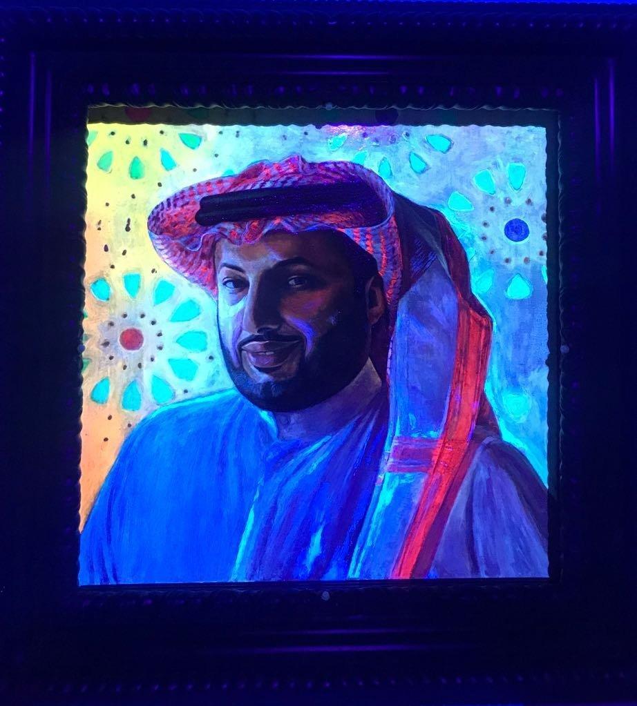 لوحة فنية لتركي آل الشيخ