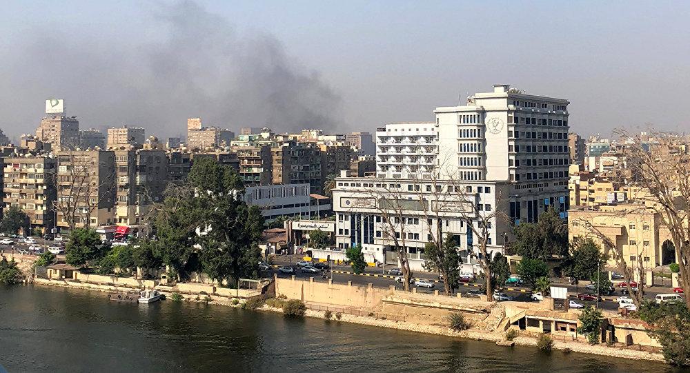 حريق في القاهرة