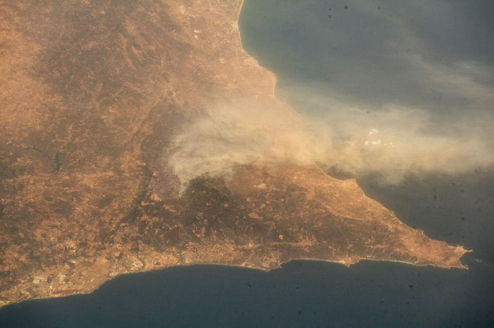 مشهد يطل على البرتغال من المحطة الفضائية الدولية