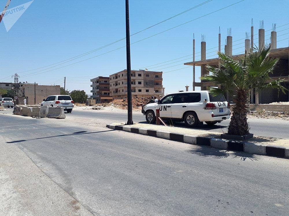 قوات حفظ السلام (أندوف) تجول (بسلام) ضمن المنطقة العازلة بالجولان تحت حماية الشرطة الروسية والجيش السوري
