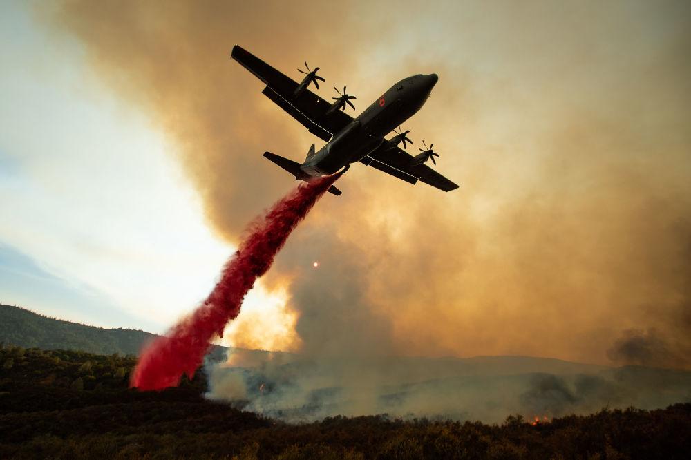 طائإطفاء الحريق في غابات كاليفورنيا، 5 أغسطس/ آب 2018