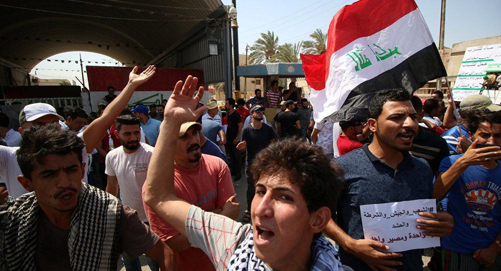 احتجاجات في البصرة، العراق 1 أغسطس/ آب 2018