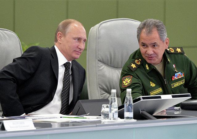 بوتين و شويغو