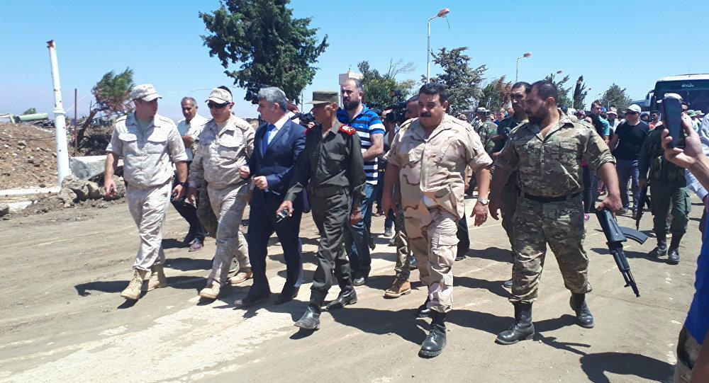 وفود إعلامية روسية وأجنبية تزور القنيطرة برفقة الشرطة العسكرية الروسية