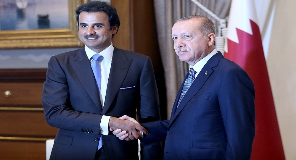 أمير قطر الشيخ تميم بن حمد والرئيس التركي رجب طيب أردوغان