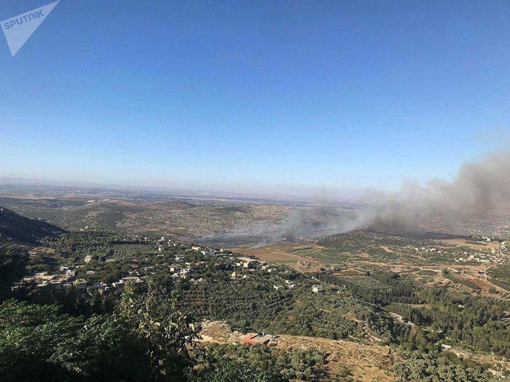 انفجار بمقر للمسلحين التركستان جنوب شرقي إدلب