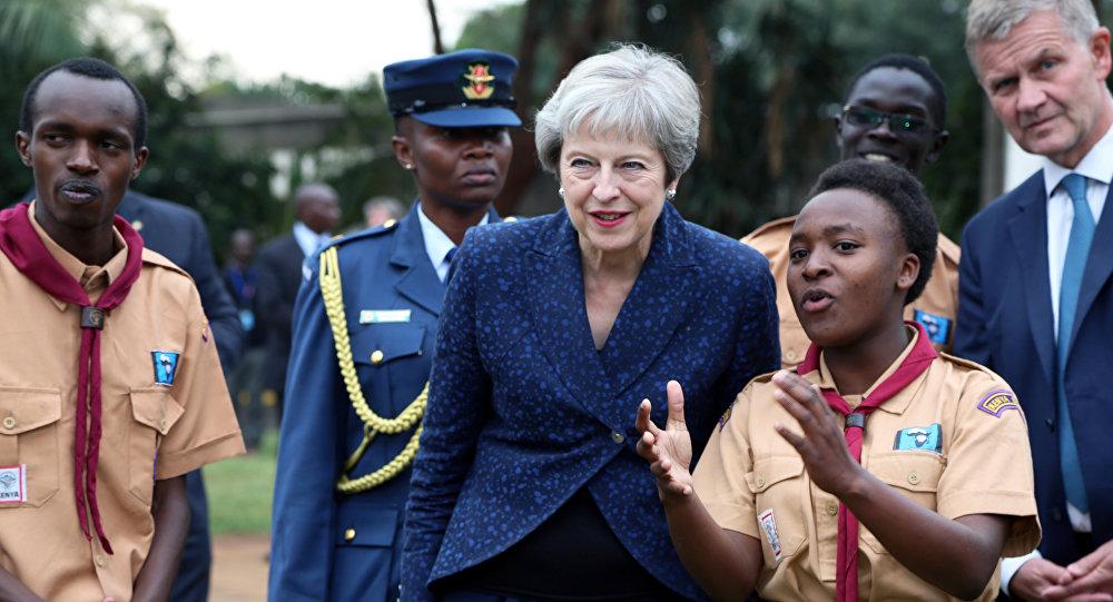 تيريزا ماي في كينيا