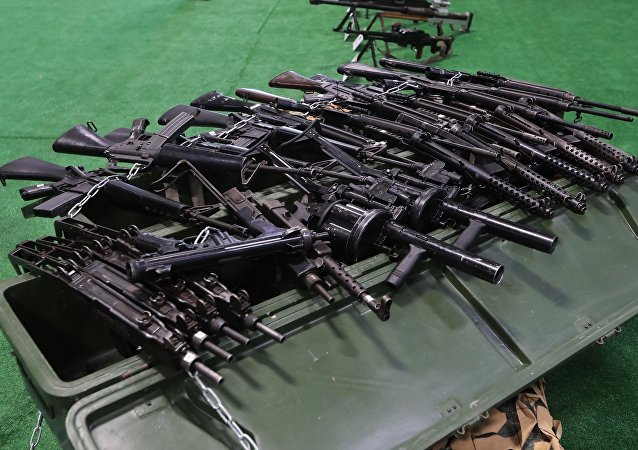 الأسلحة التي تم مصادرتها من المسلحين في سوريا