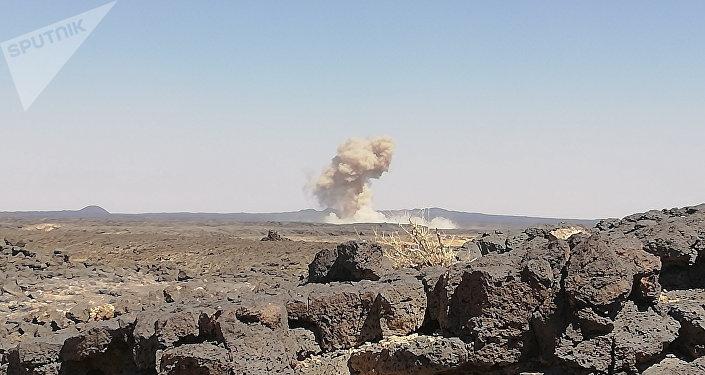 مدفعية الجيش السوري تزلزل داعش في كيلومتراته الأخيرة ببادية السويداء