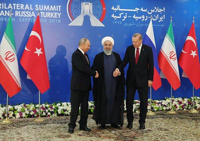القمة الثلاثية في طهران حول سوريا، 7 سبتمبر/أيلول 2018
