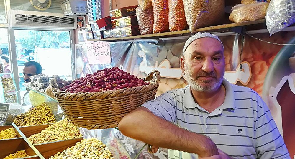 سوق الفستق في حلب في سوريا