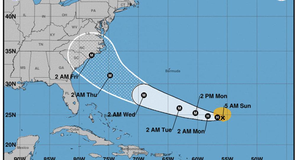 خريطة تحرك إعصار فلورنس