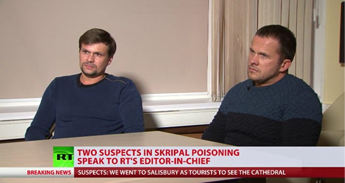 المشتبه بهما في قضية تسميم سكريبال، ألكسندر بيتروف وروسلان بوشيروف