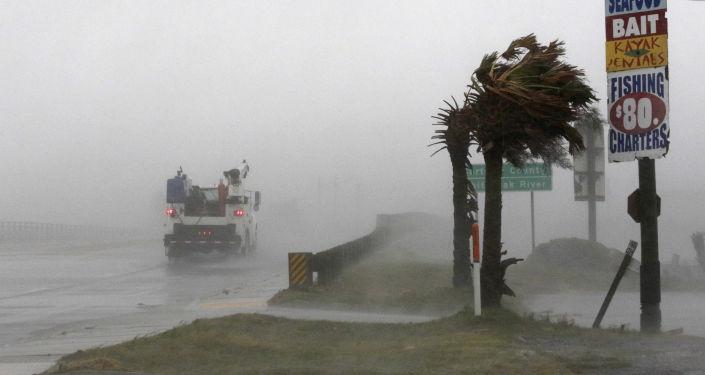 إعصار فلورنس  في سوانسبورو، ولاية نورث كارولينا (كارولينا الشمالية)، الولايات المتحدة  13 سبتمبر/ أيلول 2018