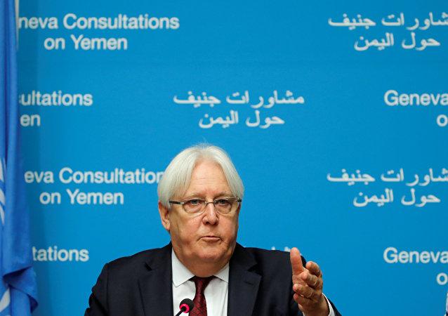 مبعوث الأمم المتحدة إلى اليمن، مارتن غريفيث، في جينيف،  8 سبتمبر/ أيلول 2018