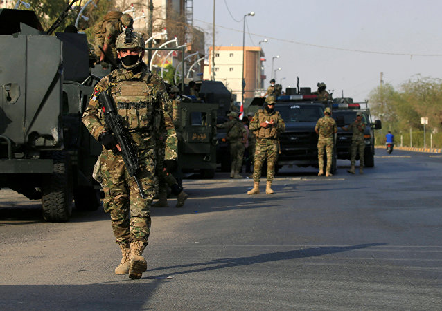 قوات الرد السريع العراقية في شارع بمدينة البصرة، العراق 8 سبتمبر/ أيلول 2018