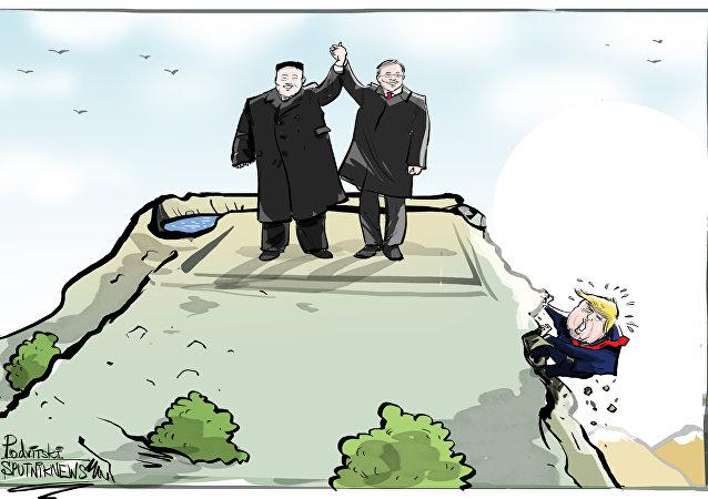 زعيما الكوريتين يعلنان إنهاء حالة الحرب