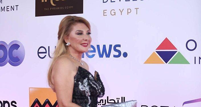 الممثلة المصرية نادية الجندي في افتتاح مهرجان الجونة السينمائي الثاني، 20 سبتمبر/أيلول 2018