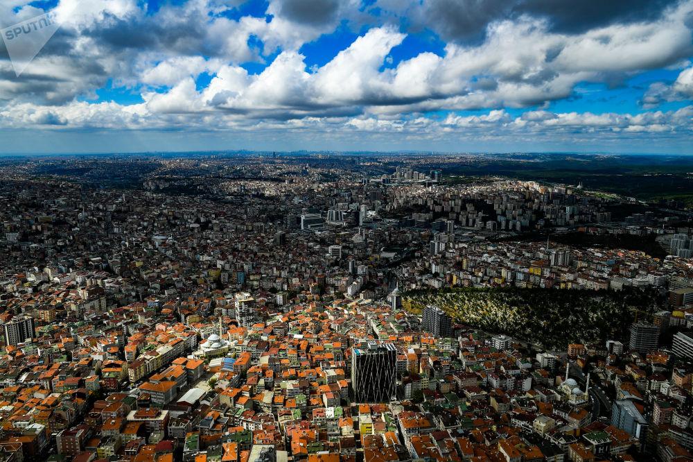 مشهد يطل على مدينة اسطنبول، تركيا