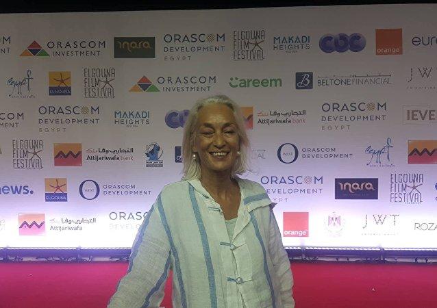 درة بو شوشة، منتجة فيلم ولدي التونسي في مهرجان الجونة السينمائي