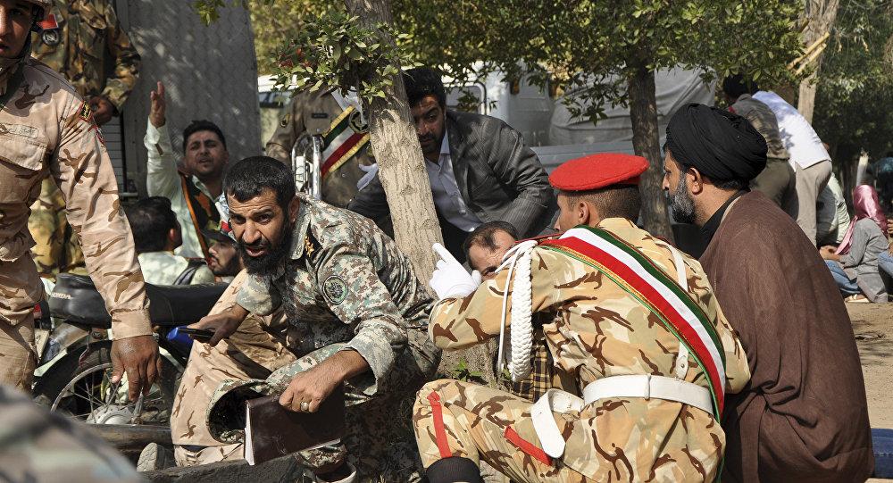 هجوم إرهابي على عرض عسكري في إيران