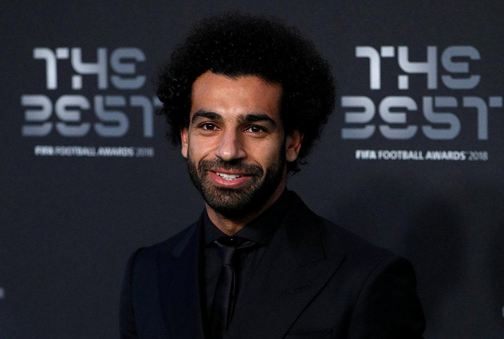 لاعب كرة القدم المصري محمد صلاح في حفل جوائز الأفضل، 24 سبتمبر/أيلول 2018
