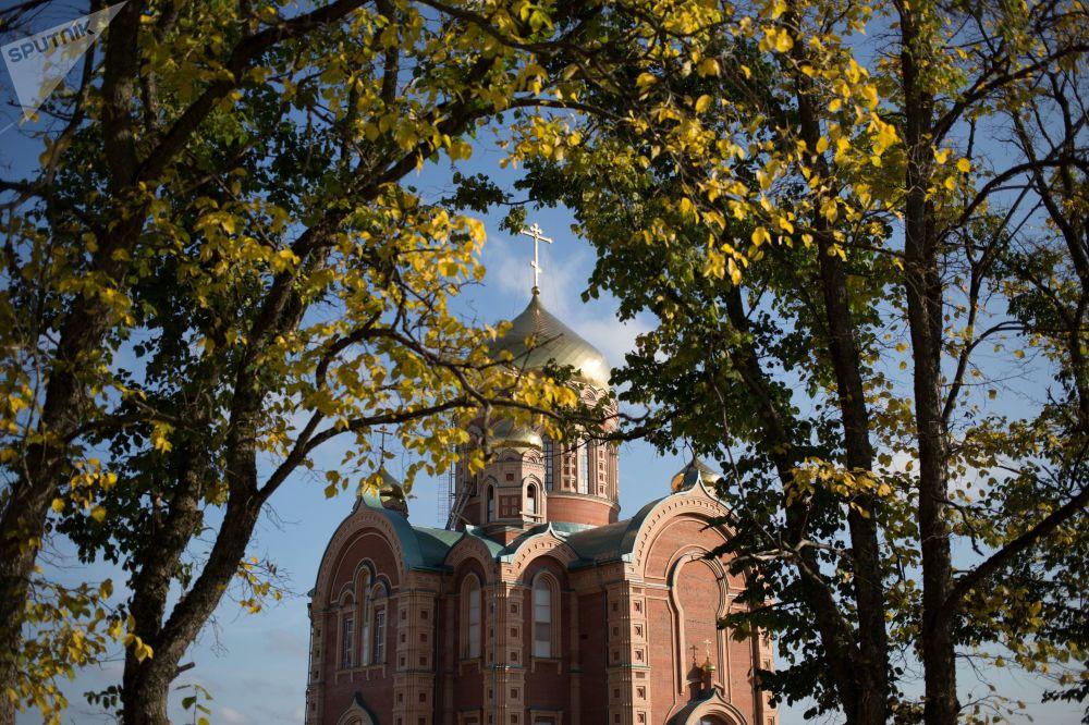 كنيسة باسم القديس نيكولاس العجائبي في منطقة بيرم