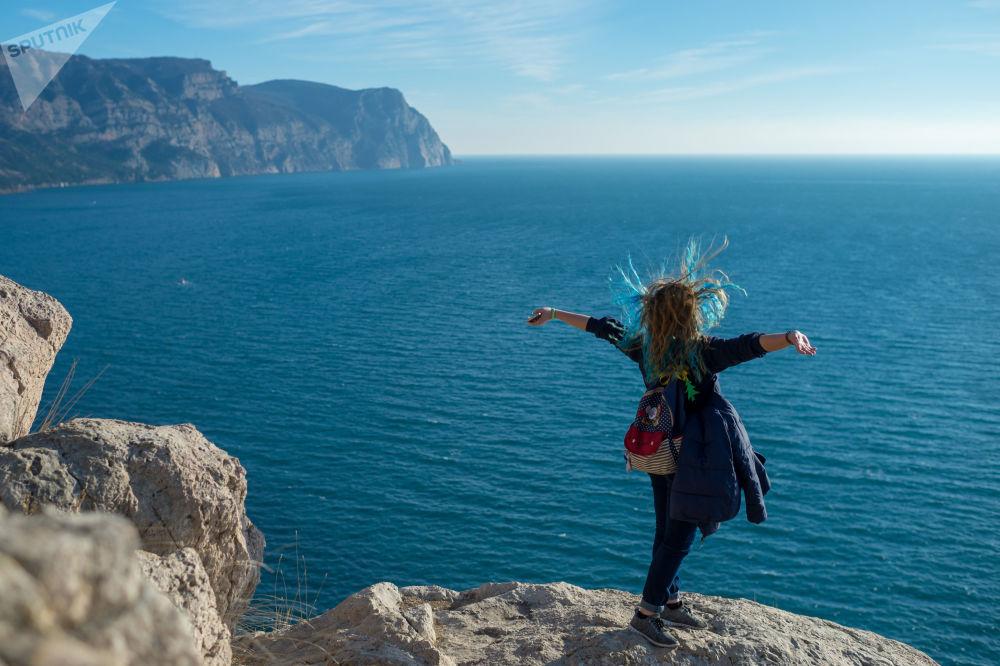 صخور بالاكلافا في شبه جزيرة القرم