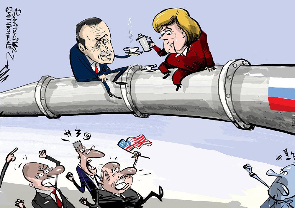 عما تحدث أردوغان لميركل عن ترامب