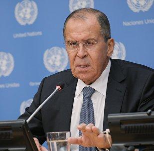 مؤتمر صحفي لوزير لافروف في الأمم المتحدة