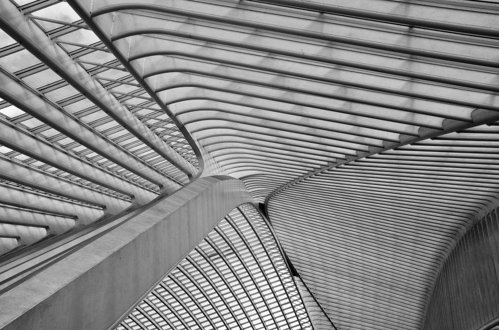 صورة للسكة الحديدية ليج-غيليمنس، من قبل المصور سوراج غارغ من بلجيكا، الذي دخل ضمن قائمة المرشحين النهائيين لمسابقة جوائز فن التصوير المعماري 2018 في فئة التصميم الداخلي