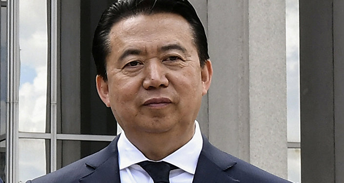 مينغ هونغ وي رئيس منظمة الشرطة الدولية الإنتربول