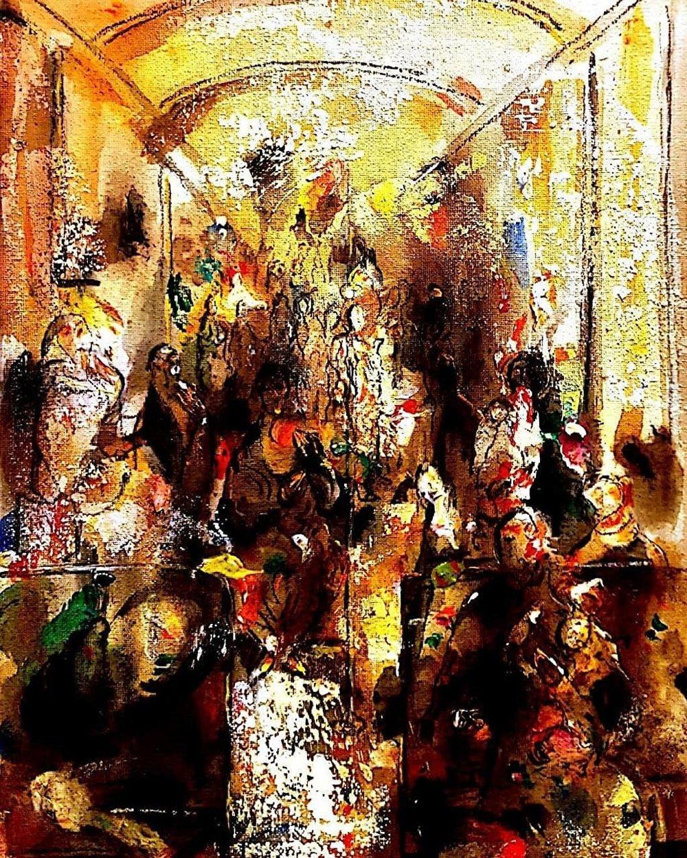 إحدى لوحات الفنان حمود شنتوت