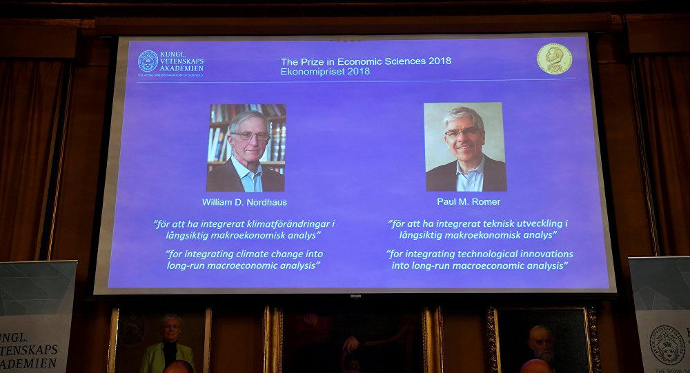 ويليام نوردهاوس وبول رومر جائزة نوبل في الاقتصاد