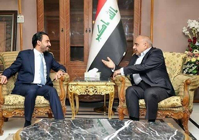 رئيس مجلس الوزراء العراقي المكلف، عادل عبد المهدي، أثناء لقائه مع رئيس بعثة الأمم المتحدة في العراق، يان كوبيتش، 8 أكتوبر/تشرين الأول 2018