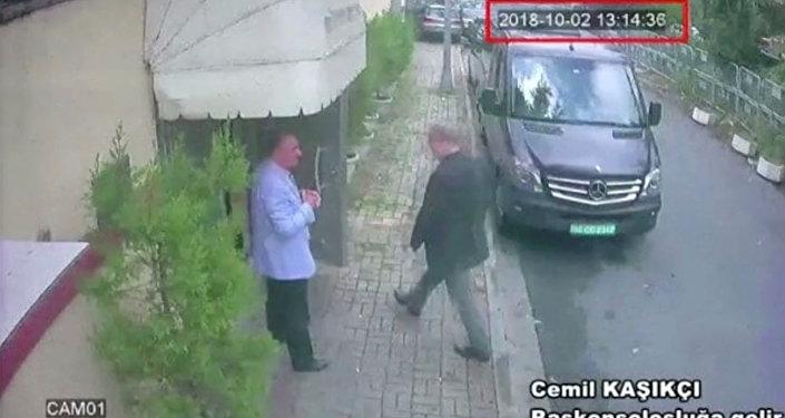 دخول الصحفي السعودي جمال خاشقجي إلى السفارة السعودية في اسطنبول، تركيا 2 أكتوبر/ تشرين الأول 2018