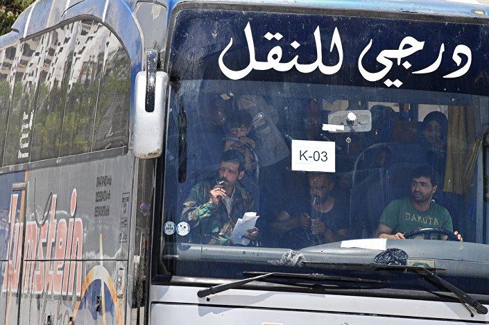نقل المسلحين من ريف دمشق